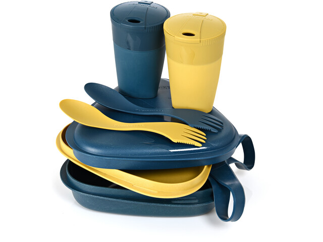 Light My Fire Pack´n Eat Kit BIO pour 2 personnes, mustyyellow/hazyblue